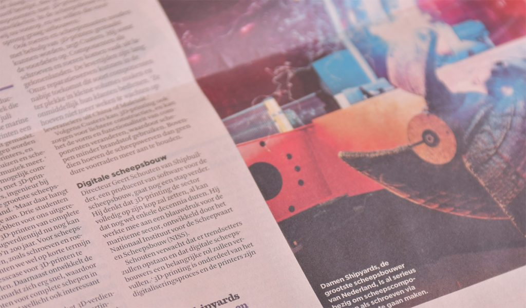 3D-printing Zal De Maritieme Sector Volledig Op Zijn Kop Zetten
